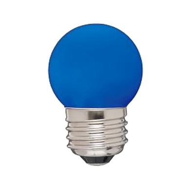 G形LEDランプ E26 [青]