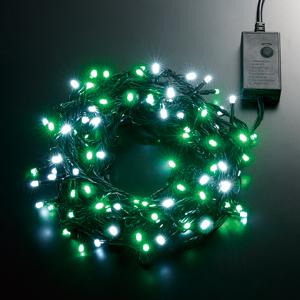 LEDストリングライト 24V 5m 白・緑