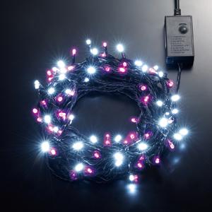 LEDストリングライト 24V 10m 白・ピンク