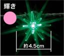 LEDデザインストリングライト 輝き・ピンク(ローボルト・24V・屋内用)