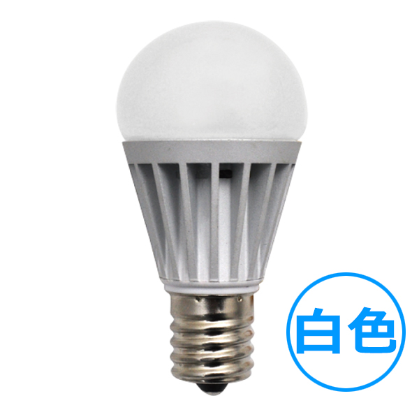 E17 調光ミニクリプトン型LED電球 【4.4W白色】