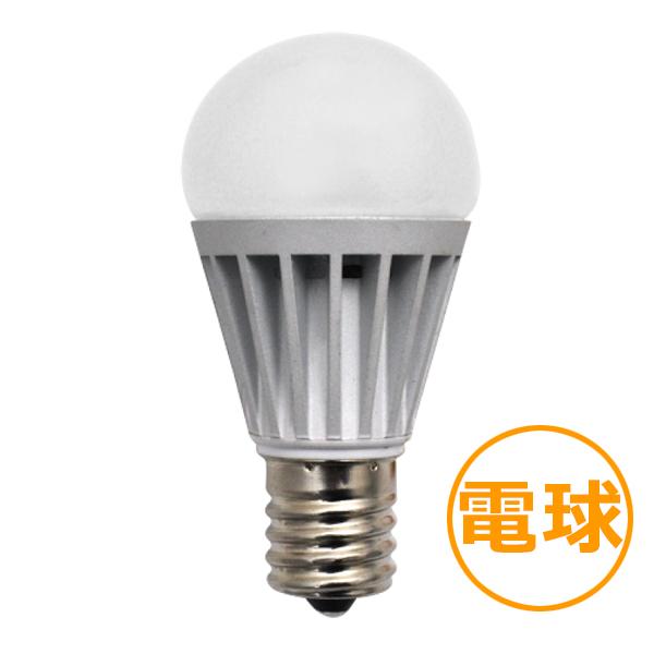 E17 調光ミニクリプトン型LED電球 【4.4W電球色】
