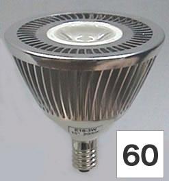 【3.6W】 LEDライト 12V/E10/白色/60°
