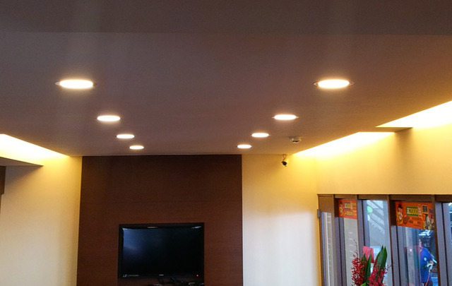 面発光LEDダウンライト 超薄型 埋込穴Φ165 【12W】