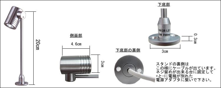 LEDディスプレイライト寸法図