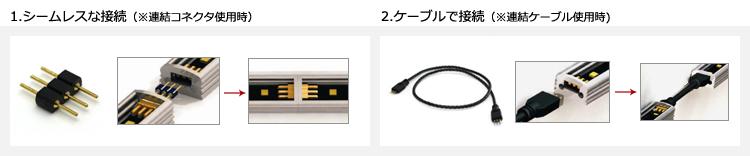 シームレスな接続・ケーブルで接続