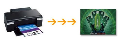 LEDライトパネルアルミフレーム バックライトフィルムはインクジェットプリンタで印刷できます。
