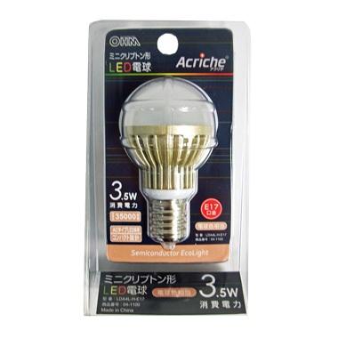 ミニクリプトン形LED電球 3.5W <OHM>