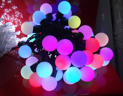 LEDイルミネーションライト 色が変わるボール RGB 5m