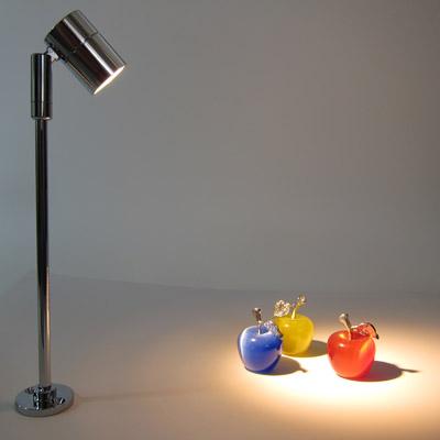 LEDディスプレイライト クローム20cm