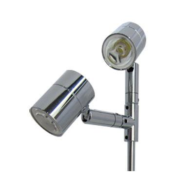 2灯式 LEDディスプレイライト クローム
