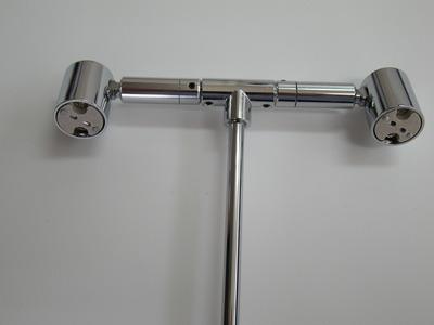 GU5.3 2灯式ランプスタンド クローム20cm