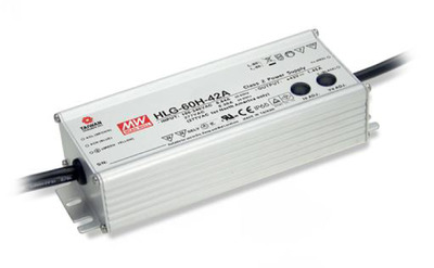 24V LED電源 IP67 [2.5A/60W] MEAN WELL