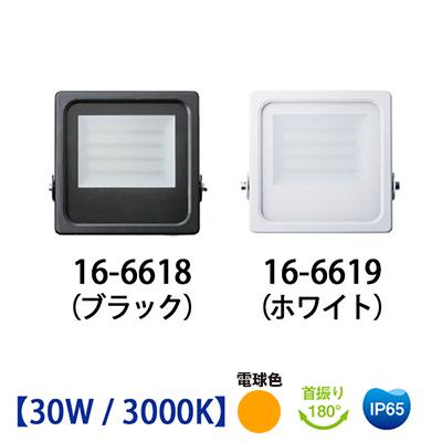 屋外用LED投光器 30Wタイプ / 3000K(IP65)